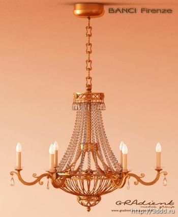 3D models of crystal chandeliers