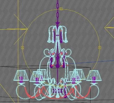 3D Model of European-style chandeliers
