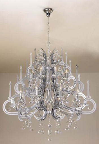 European-style cake layer crystal chandelier