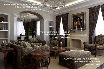 Luxury European-style living room