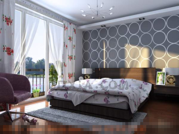 White fashion simple style bedroom