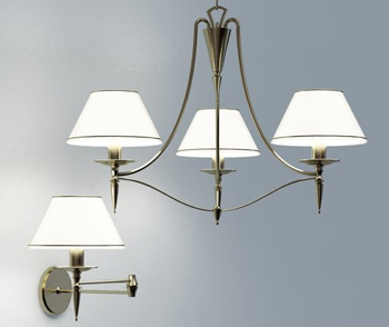 European wall lamp 3D model