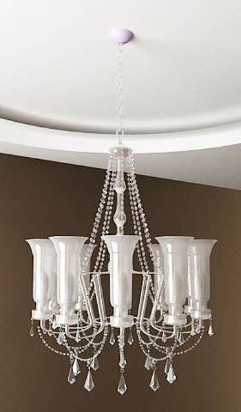 White crystal chandelier model