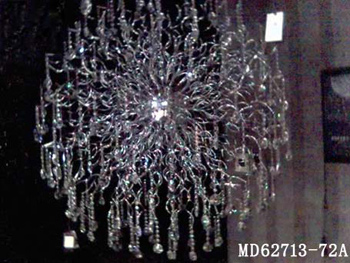 Continental Iron crystal chandeliers 3D model