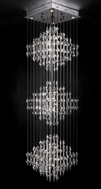 European ultra-modern crystal chandelier 3D model