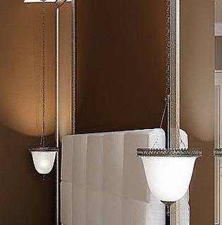 Modern white pendant lamp