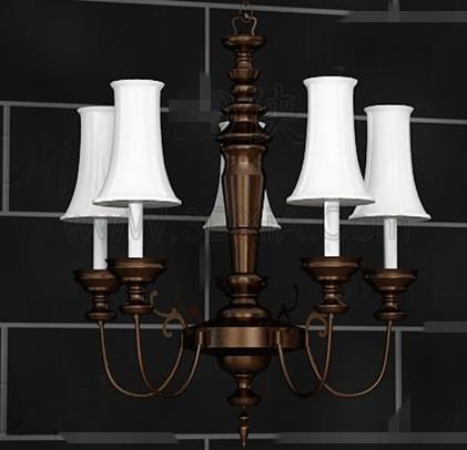 European style retro white chandelier