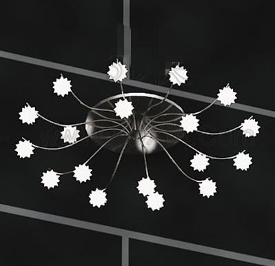 White stars metal frame Chandelier