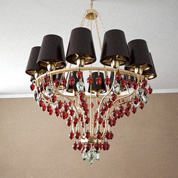 European-style Golden strawbs chandelier