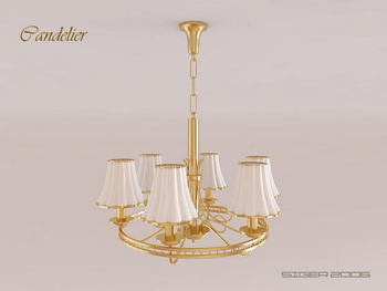 Modern Golden strawbs chandelier