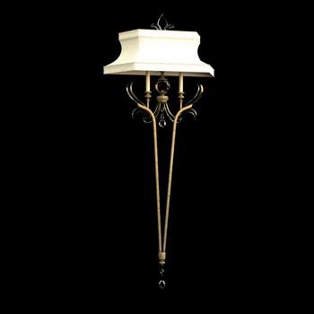 European style classical wall lamp 3D model