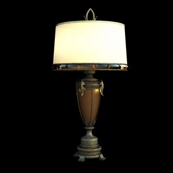 European style retro desk lamp 3D Model