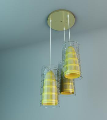 Yellow stripes exquisite chandelier
