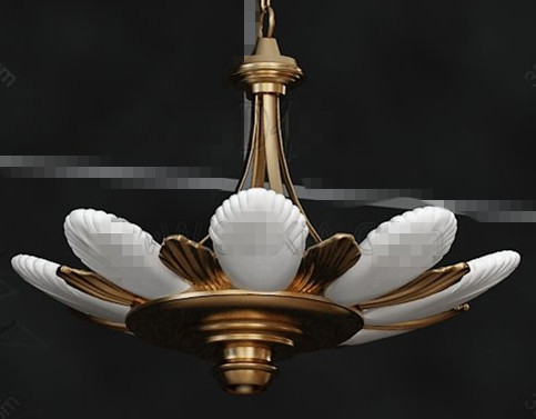 Lotus flower shaped pendant lamp