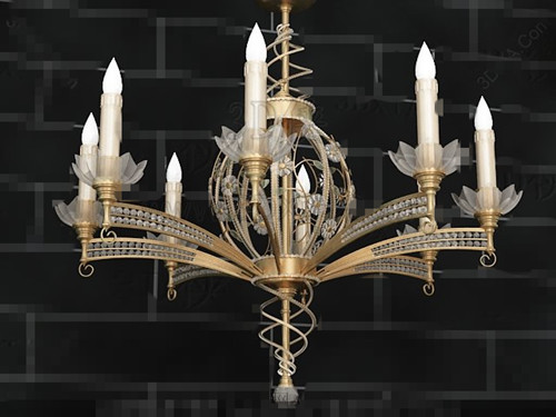 Exquisite metal frame candle Pendant