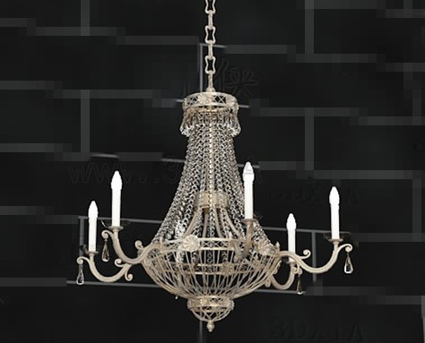 Crystal curtains candles pendant