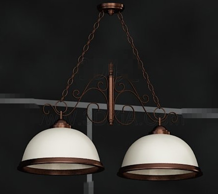 Double white lampshade combination pendant
