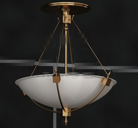 White disc metal chain pendant lamp