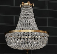 Gorgeous clear crystal pendant lamp