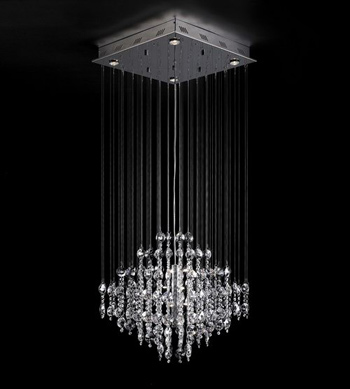 European style line curtain crystal chandelier