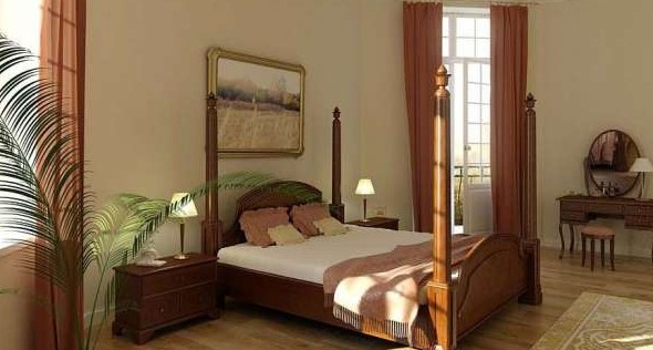 European-style bedroom