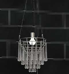 Water columnar crystal pendant lamp