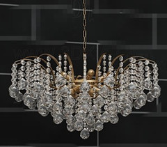 Heart-shaped crystal curtain chandelier