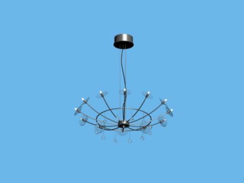 Modern simple iron basket chandelier