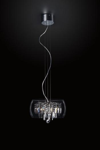 Modern crystal clear chandelier