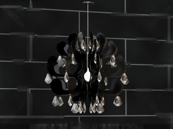 Personalized Black Crystal pendant lamp