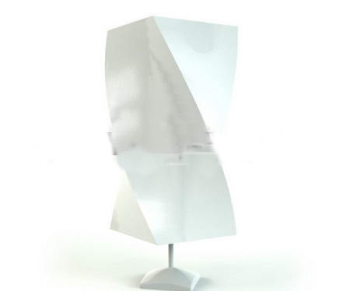 Gypsum abstract rectangular lamp