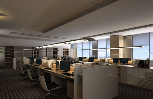 Large modern open office