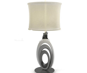 Rice yellow light cap marble cradle table lamp