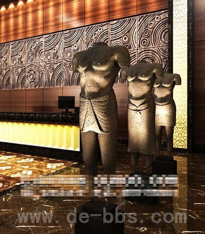 Personalized art hotel lobby