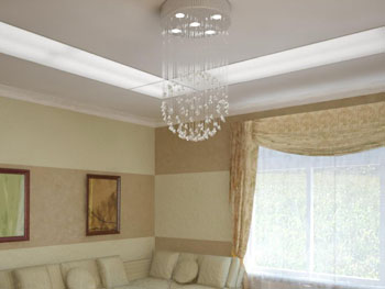 White light curtain pendant chandelier