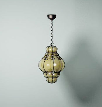 Modern branched glass pendant wall lamp Free Download