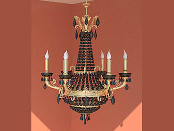 Classical color of the candlestick-like chandelier