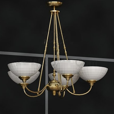 White pallets golden stents chandelier