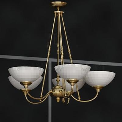White pallets golden stents chandelier