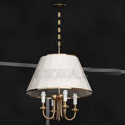 Simple white lamp shade chandelier