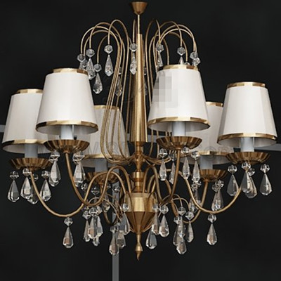 Exquisite white crystal pendant lamp