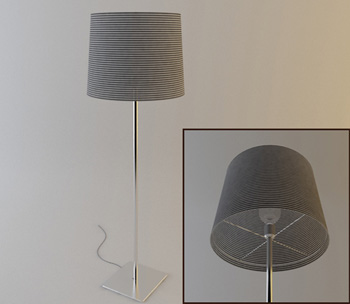 Metal lamp post floor lamp model
