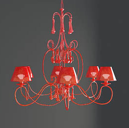 Red with shade chandeliers model