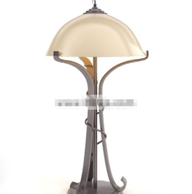 Light yellow small shade table lamp
