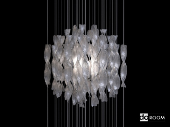 Spherical chandelier of modern style