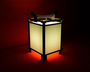 Chinese-style four-legged floor lamp