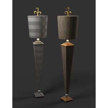 European-style floor lamp 3D Model