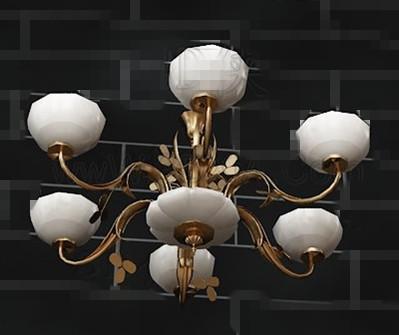 European white simple chandelier