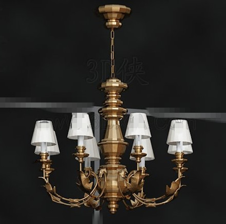 Magnificent metal frame white chandelier