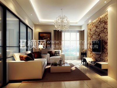 Light colored modern style living room-2 Free Download